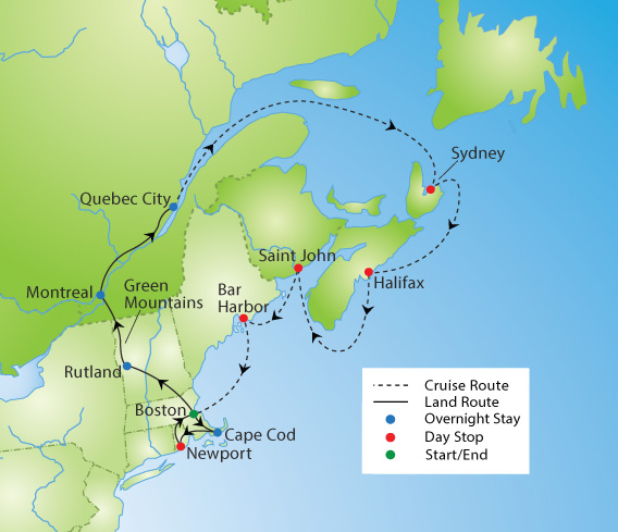 New England and Canadian Maritimes Cruise & Tour