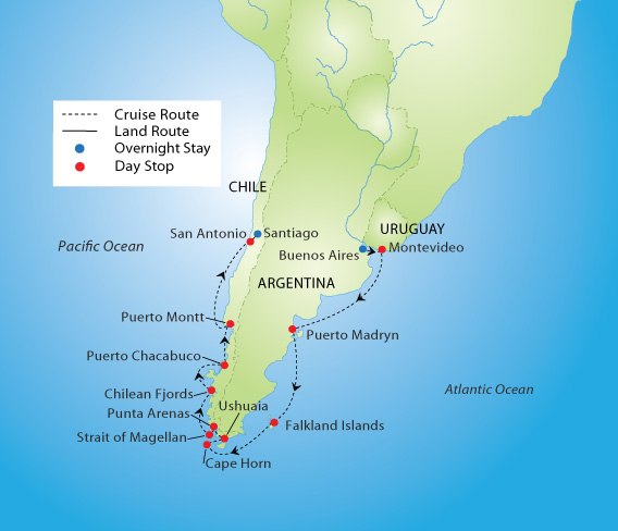 Cape Horn On South America Map.Spectacular South America Cruise Ymt Vacations