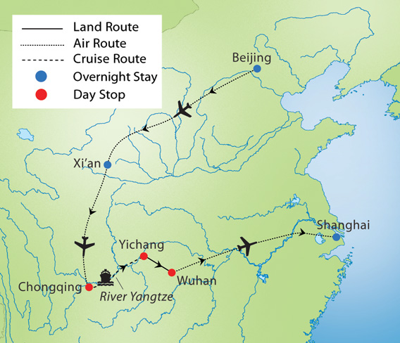 Legendary China & Yangtze River Cruise | YMT Vacations on great wall of china, pacific ocean map, rhine river map, tibetan plateau, bay of bengal map, china map, gulf of tonkin map, chongqing map, india map, sea of japan map, baltic sea map, asia map, forbidden city, brahmaputra river map, volga river, amur river map, ob river, gobi desert, colorado river, tigris river map, mississippi river, grand canal map, niger river map, yenisey river map, three gorges map, indus river, three gorges dam, ganges river, yellow river, terracotta army, persian gulf map,
