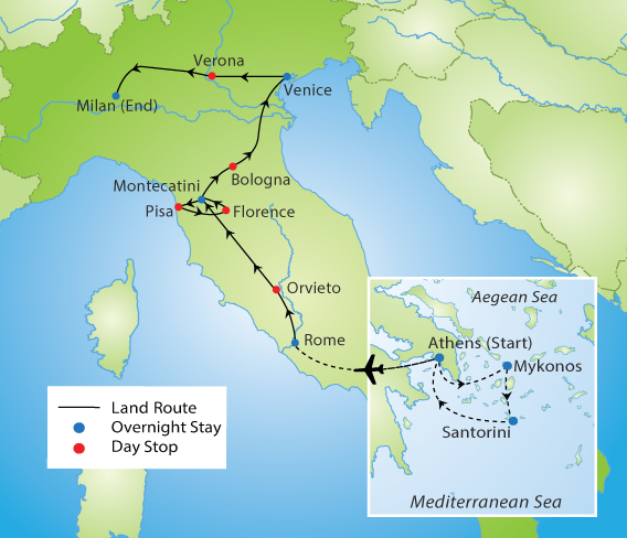 Ultimate Greece & Italy | YMT Vacations