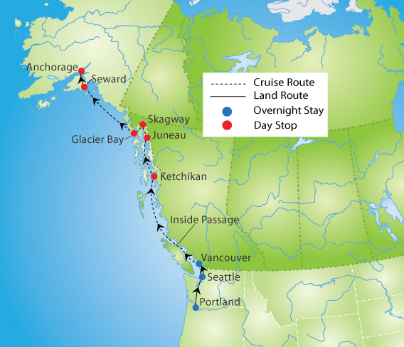 Alaska Cruise & Pacific Northwest Tour | YMT Vacations