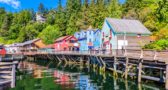 Ketchikan Alaska Creek Street on stilts