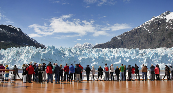 Alaska Cruise Ship Watching Glacier
