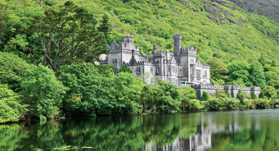 Kylemore Abbey Castle in Galway Ireland