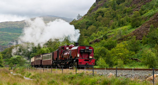 Steam Train in Snowdonia
