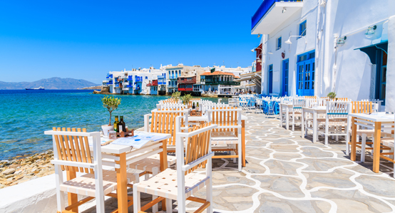 Greek Tavern in Mykonos Greece