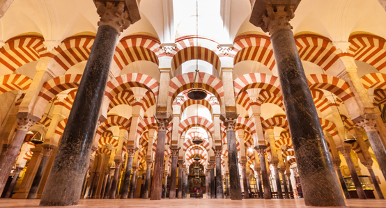 Mosque Interior in Cordoba Spain