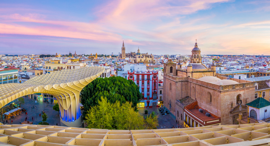 View of Seville City Center in Spain