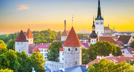 View of Tallinn Estonia