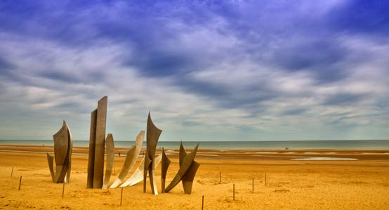 D-Day Memorial in Omaha Beach, France