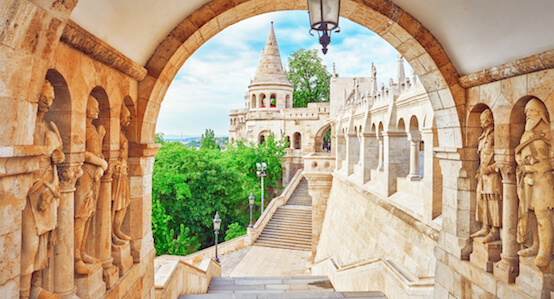 Old Fisherman Bastion in Budapest, Hungary