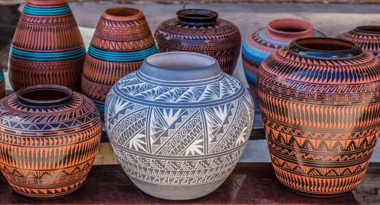 Clay pots in Santa Fe NM
