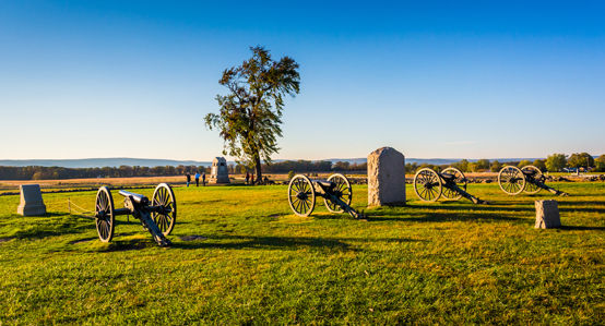 Canons & Monuments in Gettysburg
