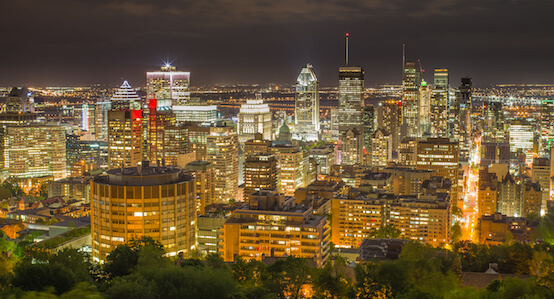 View from Mount Royal in Montreal